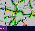 XM traffic service map