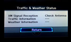 XM traffic error