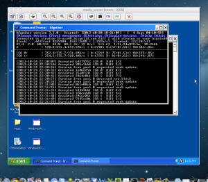 TightVNC session into my Windows mining rig
