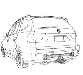 BMW X3 trailer hitch
