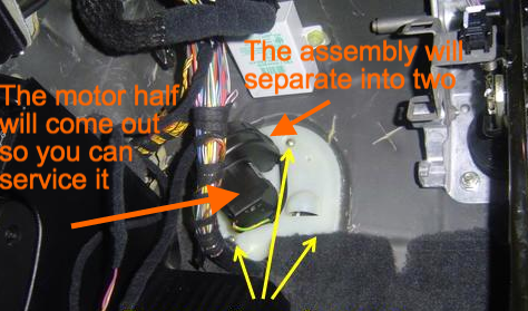 BMW X3 HVAC blower fan assembly