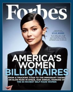 Kylier Jenner on Forbes