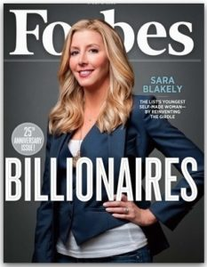 Sara Blakely on the cover of Forbes